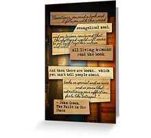 Thoughts from Books Greeting Card