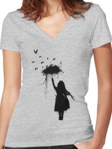 Umbrella II Women's Fitted V-Neck T-Shirt