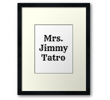 Jimmy Tatro Framed Print