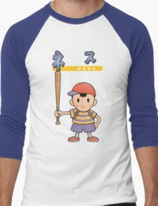 Super Smash Bros 64 Japan Ness Men's Baseball ¾ T-Shirt