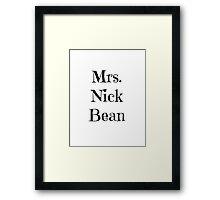 Mrs. Nick Bean Framed Print