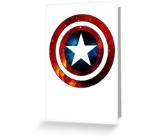 Captain America Shield Galaxy Greeting Card