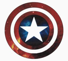 Captain America Shield Galaxy by catherinessmith