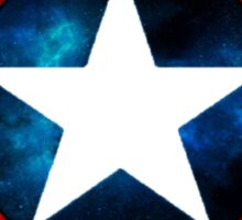 Captain America Shield Galaxy Sticker