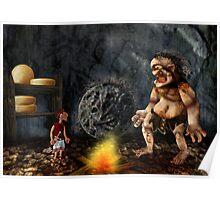 Odysseus meets Polyphemus Poster