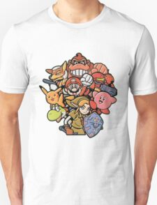 Super Smash Bros 64 Japan Characters T-Shirt