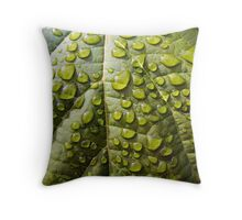 Wet, Wild and Green Throw Pillow