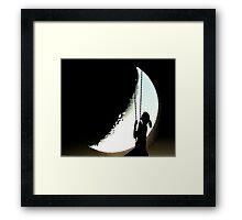 moon swing Framed Print