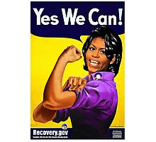 Recovery.gov Michelle Obama as Rosie The Riveter Photographic Print