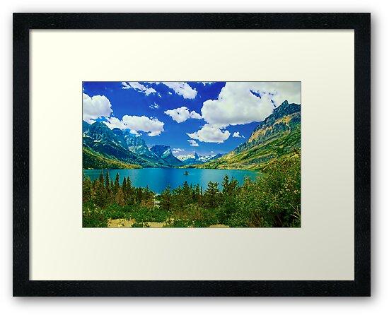 Lake Saint Mary,  Glacier National Park, Montana by Marion Daly