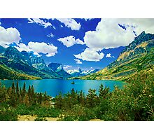 Lake Saint Mary,  Glacier National Park, Montana Photographic Print