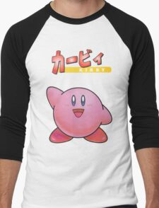 Super Smash Bros 64 Japan Kirby Men's Baseball ¾ T-Shirt
