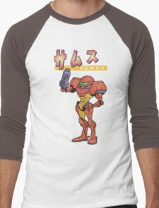 Super Smash Bros 64 Japan Samus Men's Baseball ¾ T-Shirt