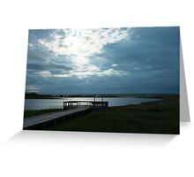 Into the light - Dominion Beach  Greeting Card