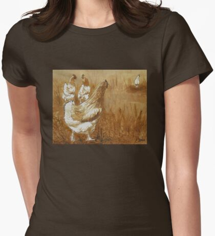 Coffee Chicks Womens Fitted T-Shirt