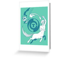 Conjectural Mythology-- Blue Greeting Card