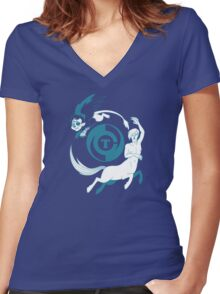 Conjectural Mythology-- Blue Women's Fitted V-Neck T-Shirt