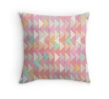 Pale Playful Chevron  Throw Pillow