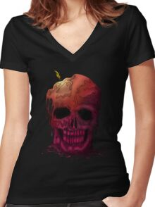 Skull Candle (2) Women's Fitted V-Neck T-Shirt