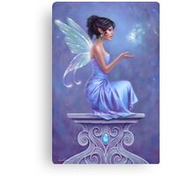 Opalite Fairy with Glowing Butterfly Canvas Print