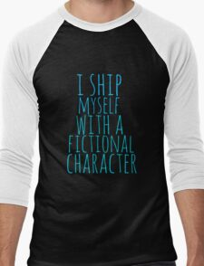 i ship myself with a fictional character Men's Baseball ¾ T-Shirt