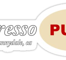 Espresso Pump - Buffy the Vampire Slayer Sticker