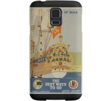 Isle of Man advertising poster from GWR & LMS Samsung Galaxy Case/Skin