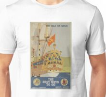 Isle of Man advertising poster from GWR & LMS Unisex T-Shirt
