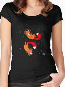 Space Foxes Women's Fitted Scoop T-Shirt