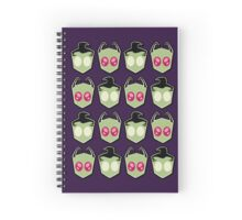 Invader Zim - Pattern Spiral Notebook