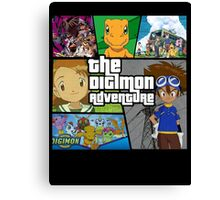 Digimon Adventure (GTA V Parody) Fan Made Canvas Print