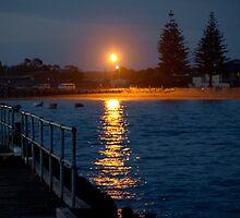 Beachport Jetty at night by Scott Pounsett