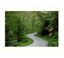 War Creek Road, Morgan County, KY Art Print