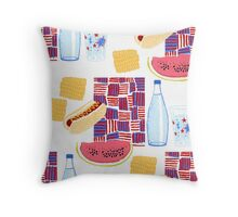 Picnic 4th of July Throw Pillow
