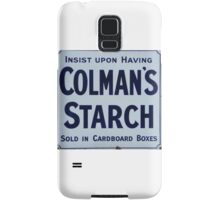 Colman's Starch old Advertising sign Samsung Galaxy Case/Skin