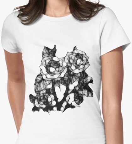 pocketful of roses Womens Fitted T-Shirt