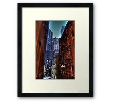 Gotham Alley Framed Print
