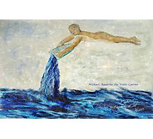Michael, Aquarius the Water Carrier Photographic Print