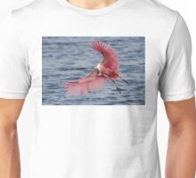 Spoonbill in Flight Unisex T-Shirt