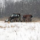 Old Truck Abandoned in the Snow by livinginoz