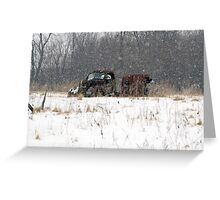 Old Truck Abandoned in the Snow Greeting Card