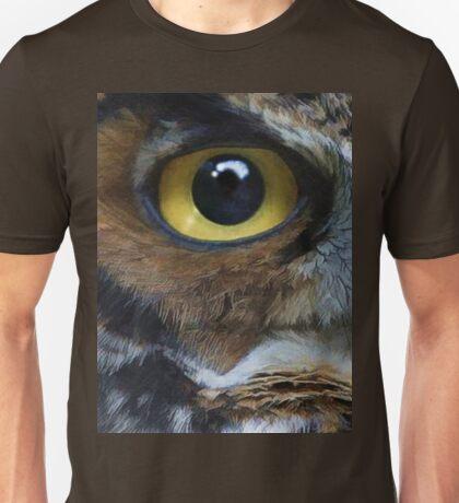 Great Gray Owl Eyes Unisex T-Shirt