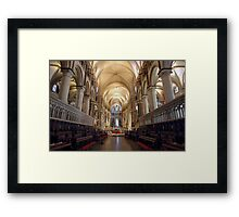 Canterbury Cathedral Interior Framed Print