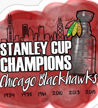 Blackhawks Stanley Cup Champions Sticker