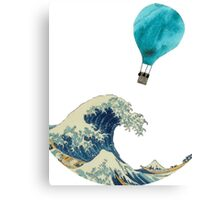 The Wave and the Hot Air Balloon  Canvas Print