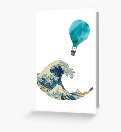 The Wave and the Hot Air Balloon  Greeting Card