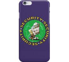 Bear & Blanket Security Service (2) iPhone Case/Skin
