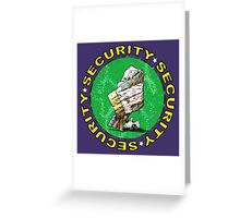 Bear & Blanket Security Service (2) Greeting Card