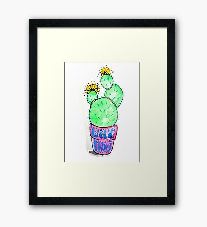 Wild Cactus Thing. By Ane Teruel.  Framed Print