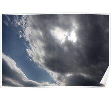 Grey Blue Sky  Poster